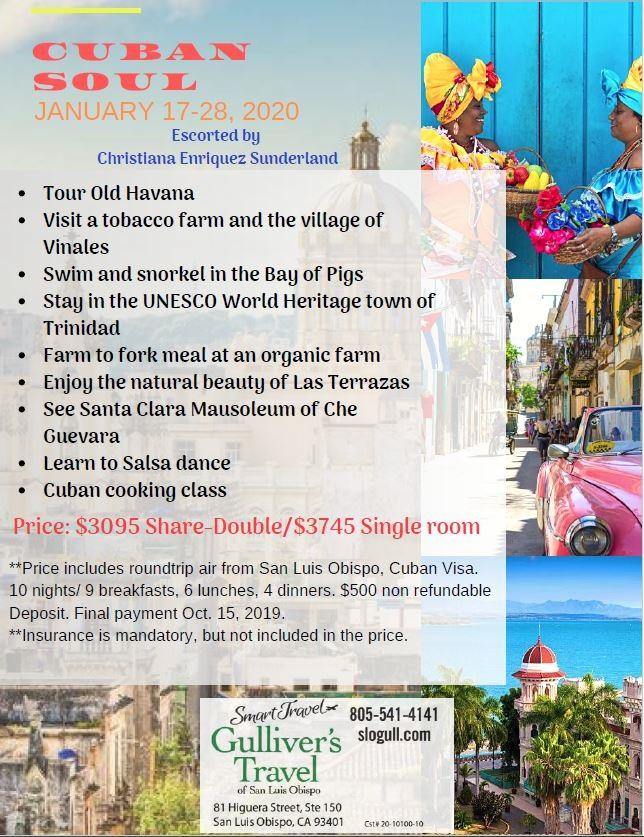 Cuban Soul 2020 Gulliver S Travel Of San Luis Obispo