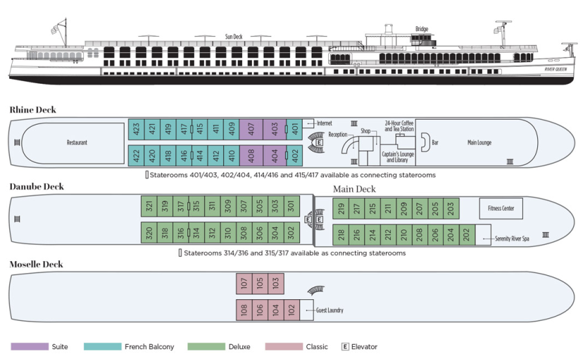 River Queen Deck Plan